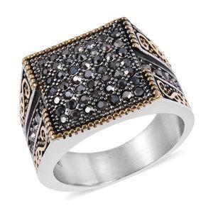 Other - Grey Austrian Crystal Black Oxidized, Ring